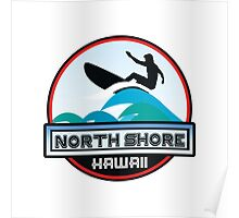 Surfing North Shore Hawaii Oahu Surf Surfboard Waves Poster