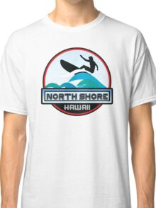 Surfing North Shore Hawaii Oahu Surf Surfboard Waves Classic T-Shirt