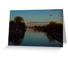 Evening on the River Frome. Greeting Card