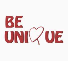 A simpel statement: Be Unique Kids Tee