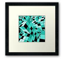 Rubik series 1, mint Framed Print
