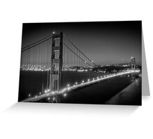 Evening Cityscape of Golden Gate Bridge | Monochrome Greeting Card