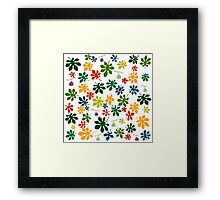 Colorful fig tree pattern Framed Print