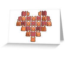 Cat Heart Greeting Card