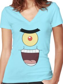 plankton Women's Fitted V-Neck T-Shirt