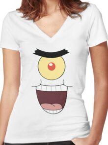 plankton Women's Fitted V-Neck T-Shirt