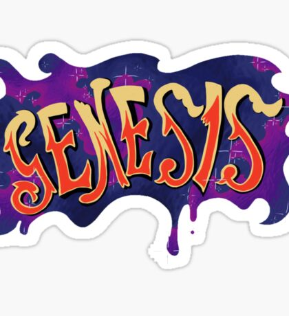 70s Genesis logo Sticker