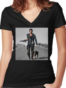 Mad Max Women's Fitted V-Neck T-Shirt