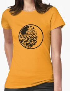 Tiger Tattoo - Black Womens Fitted T-Shirt