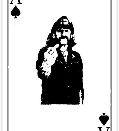 Lemmy playing card Sticker