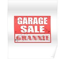 GARAGE SALE GRANNNIE Poster