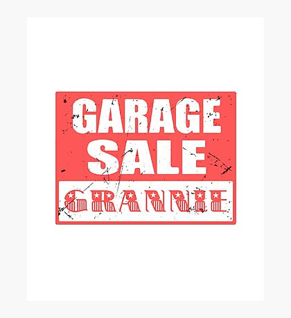 GARAGE SALE GRANNNIE Photographic Print