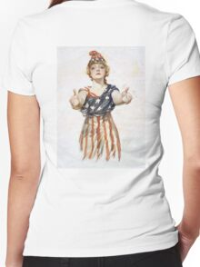 Americana, America, Columbia, American Recruitment, USA, World War 1 Women's Fitted V-Neck T-Shirt