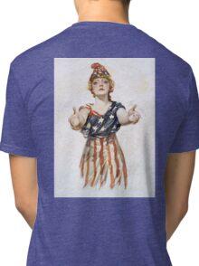 Americana, America, Columbia, American Recruitment, USA, World War 1 Tri-blend T-Shirt