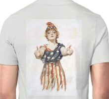 Americana, America, Columbia, American Recruitment, USA, World War 1 Unisex T-Shirt