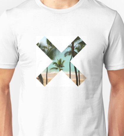 X Palm Tree Beach Unisex T-Shirt