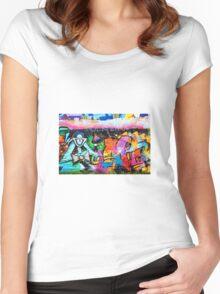 Graffiti Women's Fitted Scoop T-Shirt