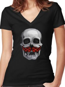 Jolly Rodger Women's Fitted V-Neck T-Shirt