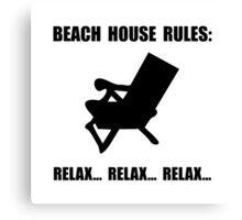 Beach House Rules Canvas Print