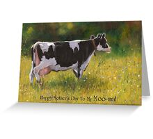 Mother's Day Card with Cow, Humor, To My Moo-ma Greeting Card
