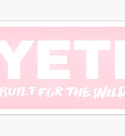 Pink Yeti Logo Sticker