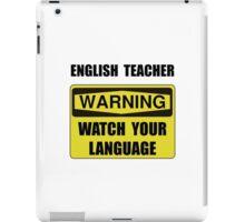 English Teacher iPad Case/Skin