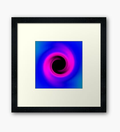 Abstract swirling black hole Framed Print