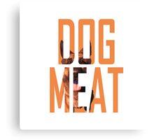 Dogmeat Text Canvas Print