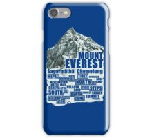 Mount Everest - Routes iPhone Case/Skin