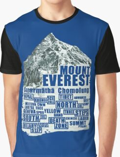 Mount Everest - Routes Graphic T-Shirt