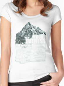 Mount Everest - Routes Women's Fitted Scoop T-Shirt