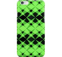 Black and green stars pattern iPhone Case/Skin