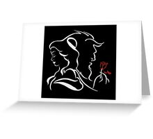 beauty and the beast broken rose Greeting Card
