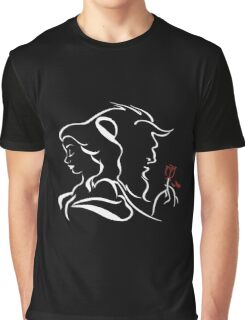 beauty and the beast broken rose Graphic T-Shirt