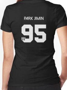 Park Jimin - Real Name BTS Member Jersey HYYH Women's Fitted V-Neck T-Shirt