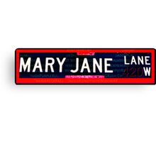 Mary Jane Lane Canvas Print
