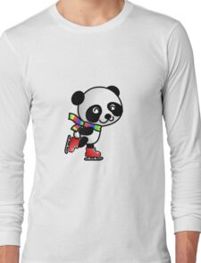 Skating Panda Long Sleeve T-Shirt