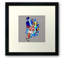 Adventure Time Tardis dr Who  Framed Print