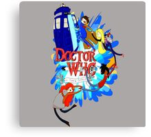 Adventure Time Tardis dr Who  Canvas Print