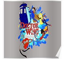 Adventure Time Tardis dr Who  Poster
