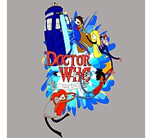 Adventure Time Tardis dr Who  Photographic Print