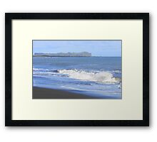 Vik black sand beach Framed Print