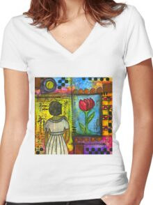 Looking for Inspiration in ALL the RIGHT Places Women's Fitted V-Neck T-Shirt