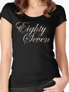 floral script Women's Fitted Scoop T-Shirt