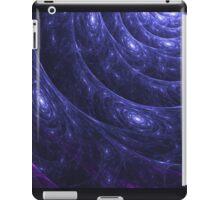 Indigo Blue Galaxy Web Fractal iPad Case/Skin