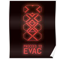Proceed to Evac Poster