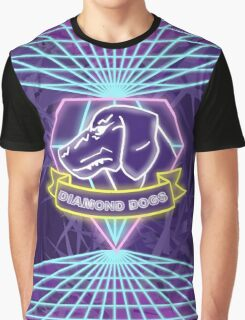 Metal Gear Solid Diamond Dogs 80s Synthwave Graphic T-Shirt
