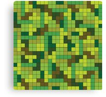Tetris Camouflage Forest Canvas Print