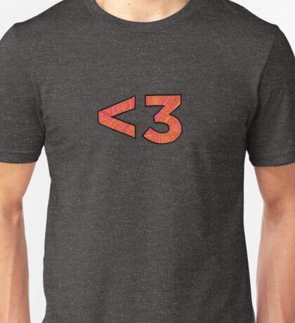 <3 - less than 3 heart Unisex T-Shirt