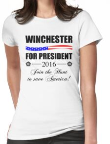 Supernatural SPN 2016 Election Parody Womens Fitted T-Shirt